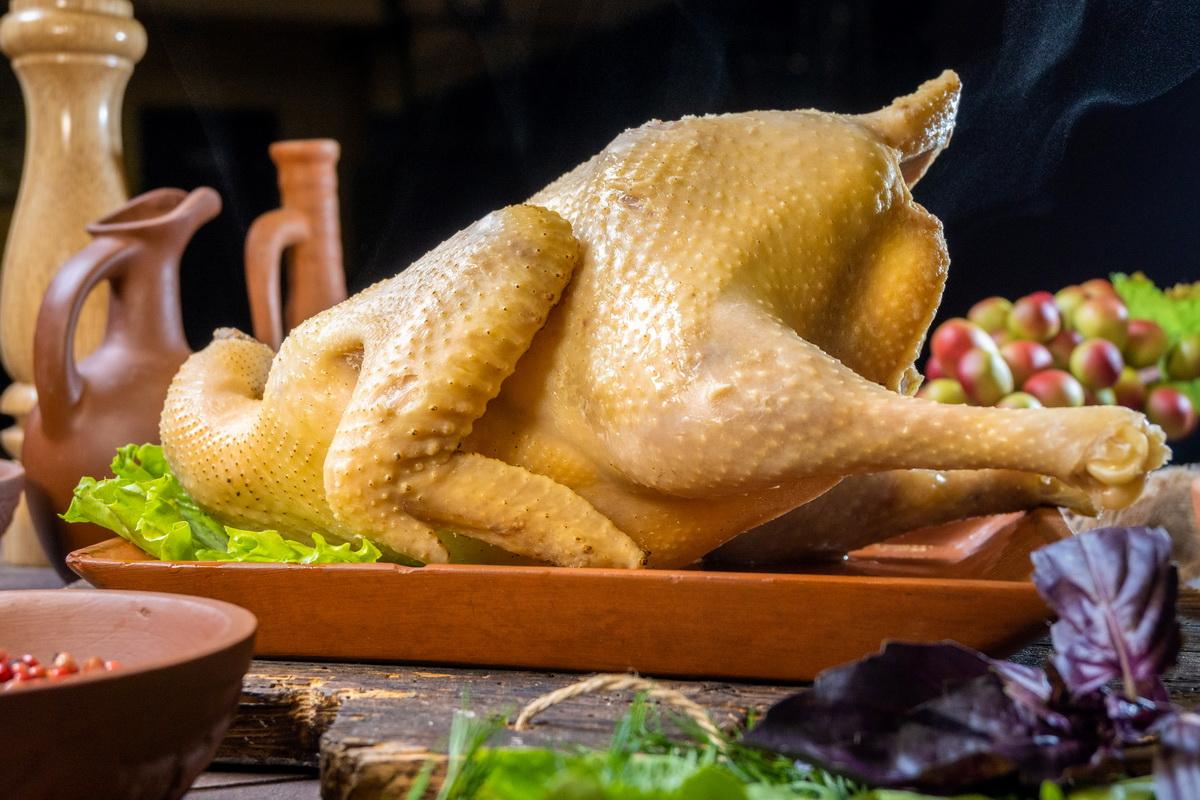 Курица домашняя отварная