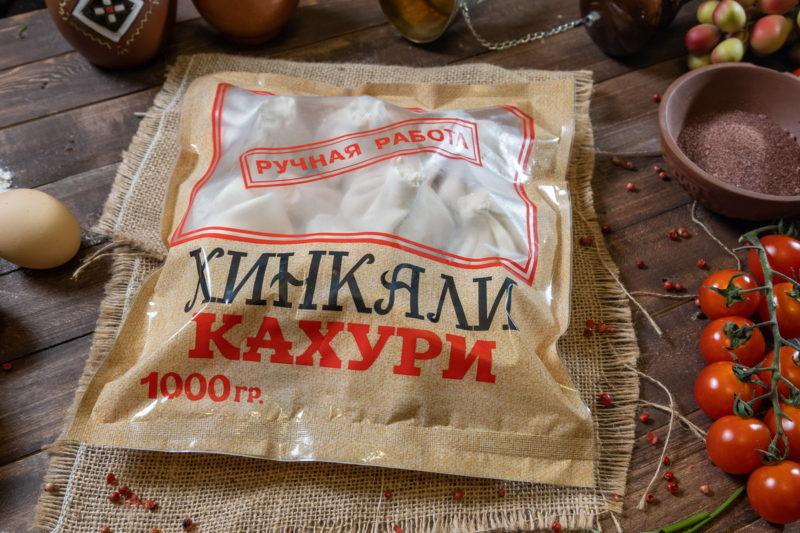 Хинкали замороженные (свинина, говядина) в подарочной упаковке